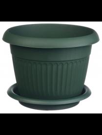 (75857) М3020 Кашпо ЛИВИЯ D240мм 4,6л с поддоном Зеленый