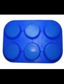 (78001) Форма для выпечки силиконовая 6 кексов №1 круги 26,5*18*2,7см KT-S-302