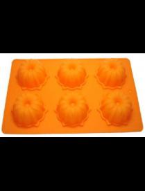 (78002) Форма для выпечки силиконовая 6 кексов №3 27,5*17*3,5см КТ-S-310