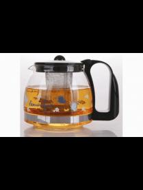 (78205) 3212 Заварочный чайник BONJART 1250 мл., Жаропрочное стекло, деколь, метал. фильтр