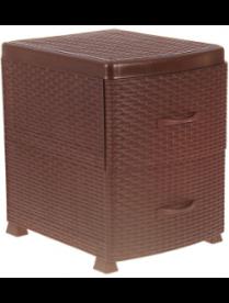 (78290) М2810 Комод-тумба РОТАНГ (2 секции) коричневый ротанг