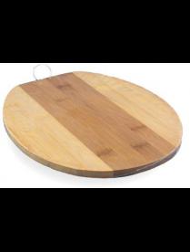 (77991) КТ-ДР-11 Доска раздел. бамбук 200*240*10мм №1 овал