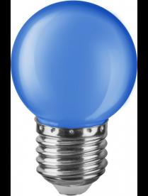Navigator 71 829 NLL-G45-1-230-B-E27 (стекло матовое синее) светодиодная