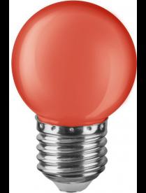 Navigator 71 827 NLL-G45-1-230-R-E27 (стекло матовое красное) светодиодная