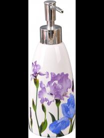 """001991 Дозатор для жидкого мыла """"Ирисы"""" DIS-IR, керамика"""