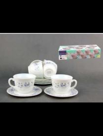 Набор чайный 1/12 синяя вуаль XWB190HP55-6-1059