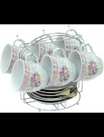 (76208) 0030331 Набор чайный 12пр. (6чашек+6блюдец) 180мл. нп мет/подст.