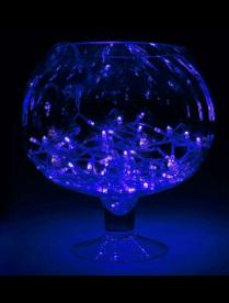 """Гирлянда """"Метраж"""" 5.2м, нить силикон,LED-50-220V Синий 671029"""