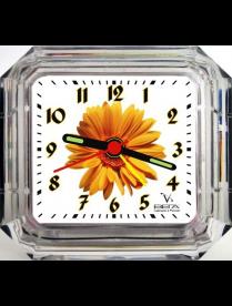 Будильник Б1-006 Оранжевый цветок