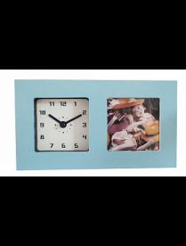 Часы-фоторамка маленькие 6409 голубые