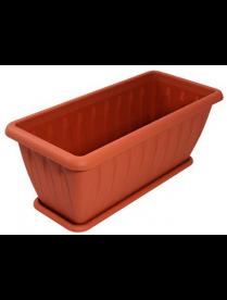 """(31906) С185Т Ящик для растений """"Фелиция"""" терракот 40см с поддоном"""