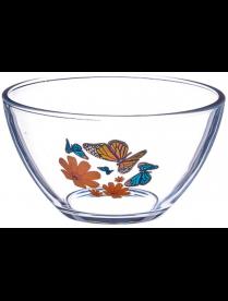 """(80691) 07с1322 Салатник маленький """"Бабочки и оранжевые цветы"""" серия """"Гладкий"""" 11 см"""
