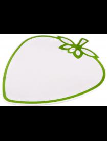 """(81785) М5846 Доска разделочная """"Клубника"""" 315х270х6мм Бело-зеленая (уп.20) Альтернатива"""