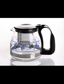 (82007) 4132 Заварочный чайник 700 мл., Жаропрочное стекло, деколь, метал. фильтр
