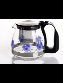 (82009) 4124 Заварочный чайник 700 мл., Жаропрочное стекло, деколь, метал. фильтр