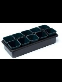 (09565) Рассадник на 10 стаканчиков чёрный (440*190*125) (3)