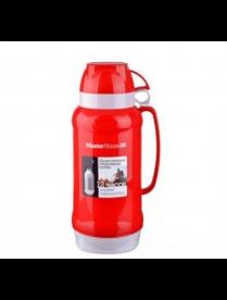 (79819) Термос ТС-2.0 л ВЕНЕЦИЯ (Термос пластиковый со стеклянной колбой, две чашки. Цвет в ассорт.