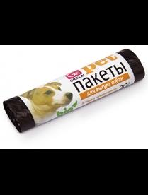 (82995) 301-012 Пакеты для выгула собак GRIFON (25х40см, 15мкм), 20шт /60/1