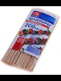 (82993) 400-101 Шампуры деревянные GRIFON, 200 мм в упаковке, 100 штук /100/1