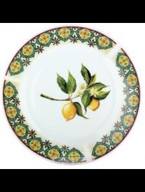 (79117) YQ1612 Тарелка десертная 19см Лимон YQ1612