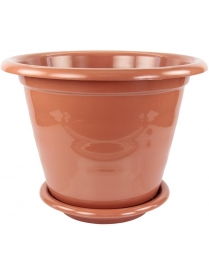 """(39717) М1538 Горшок цв. """"Виола"""" 16л с поддоном коричневый"""