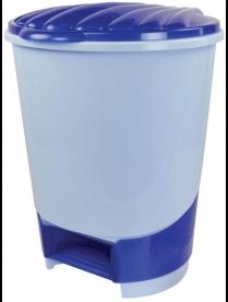 (49624) М1380 Ведро для мусора с педалью 10л (голубой)