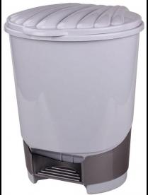 (49625) М1381 Ведро для мусора с педалью 10л (серый)