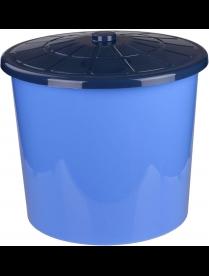 Бак 75л универсальный с крышкой синий М3466