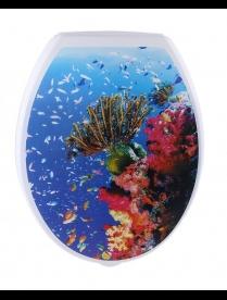 (83377) Сиденье для унитаза с рисунком (Рифы) mt20707