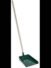 (83471) Совок хозяйственный с вертикальной деревянной ручкой