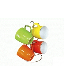 (62750) S4-B2158/MIX Набор кружек п/уп микс 4 цвета Х S4-B2158/MIX