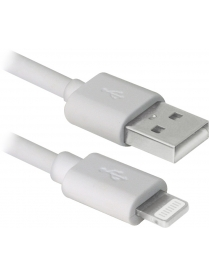 USB кабель ACH01-03BH белый, USB(AM)-Lightning, 1м DEFENDER 87479
