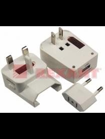 11-1051 Адаптер сетевой с зарядкой устройств USB REXANT