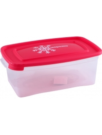 """(84330) С57006 Контейнер для замораживания продуктов """" Морозко"""" 1л.прям. (46)"""