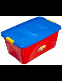 """(84180) С834-01-000 Ящик для игрушек """"Пиколо"""" 44л. на колесиках"""