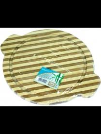 (84905) КТ-ДР-201 Доска раздел. бамбук 235*195*80мм №1 круглая