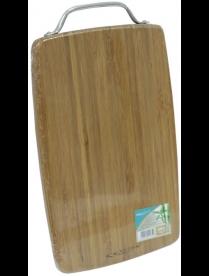 (84907) КТ-ДР-111 Доска раздел. бамбук 280*180*18мм №1 с метал. ручк.