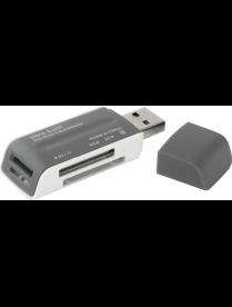 Картридер DEFENDER Ultra Swift USB 2.0, 4 слота 183260
