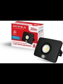SUPRA SL-FL-SEN-20W/4000K-SE Прожектор светодиодный С ДАТЧИКОМ ДВИЖЕНИЯ