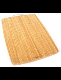 (85474) КТ-ДР-113 Доска раздел. бамбук 400*300*18мм №3 с метал. ручк.