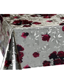 (85947) FY-2112A-8016F Клеенка ЛАЗЕР печатная 1,37м*20м розы на золоте 1/1