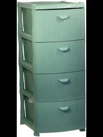 Комод Вязание (4 секции) фисташковый М2817