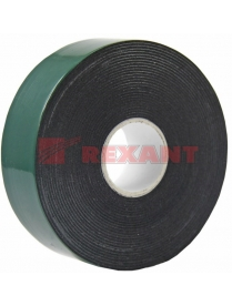 09-6125 Двухсторонний скотч, зеленого цвета на черной основе, 25мм, 5метров REXANT