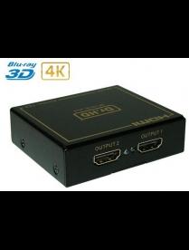 17-6951 Делитель HDMI 1x2 пластиковый корпус REXANT