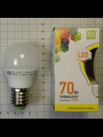 016.2211 LED-ШАР-standard 7.5Вт 160-260В Е27 3000К 675Лм ASD светодиодная