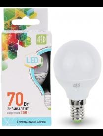 016.2210 LED-ШАР-standard 7.5Вт 160-260В Е14 4000К 600Лм ASD светодиодная