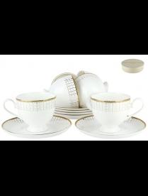 (86056) SX-0012 Набор чайный 6/12 круглая 250мл п/у Маркиза