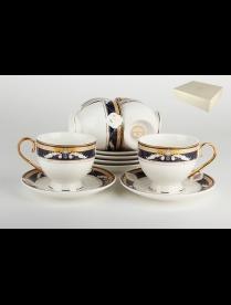 (85509) TC38R-BL Набор чайный 6/12 ф.классическая 250мл.п/у2Арника/кобальт