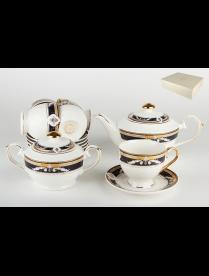 (86048) GS38R-BL14G Набор чайный 6/14 ф.классическая 250мл.п/у Арника/кобальт