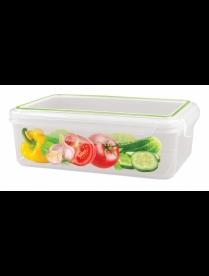 """(86690) С11235 Контейнер для холодильника и микроволновой печи """"SUPER LOCK"""" с декором 1,1л"""